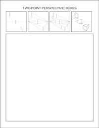 two-point perspective worksheet: boxes