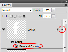 Reveal Bevel and Emboss layer effect