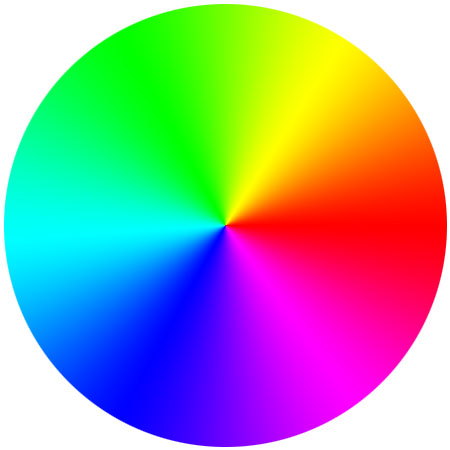Finished color wheel