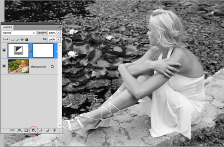 Add Black and White Adjustment Layer