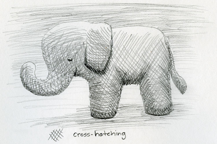 Pencil drawing techniques cross hatching