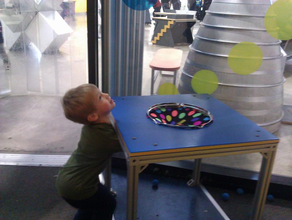 Theo at Oregon Museum of Science and Industry