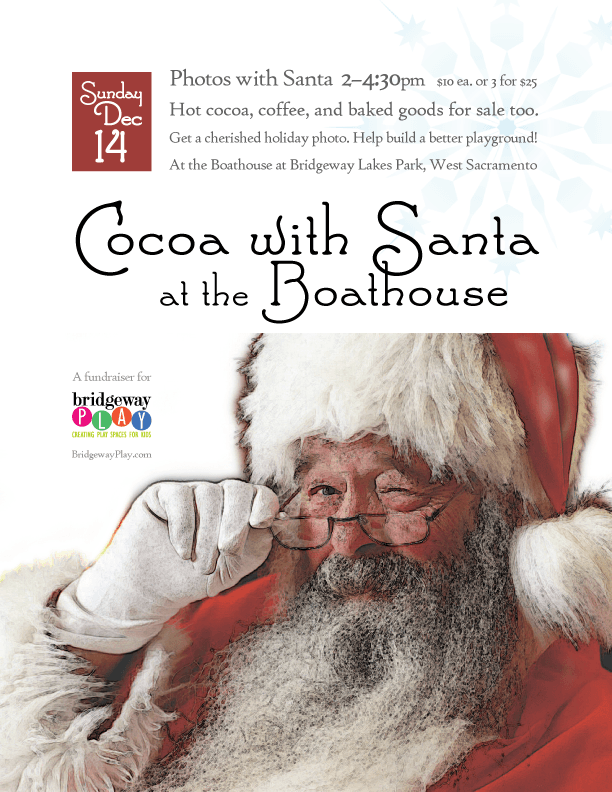 Cocoa with Santa: letter-sized flyer
