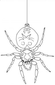 How to Draw a Jumping Spider - descending spider