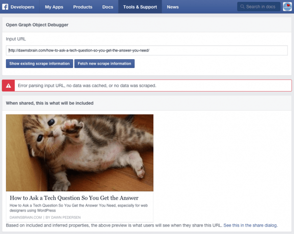 How to Fix a Missing Feature Image or Description in Facebook