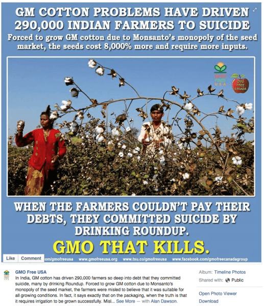 GMO Free USA Facebook post