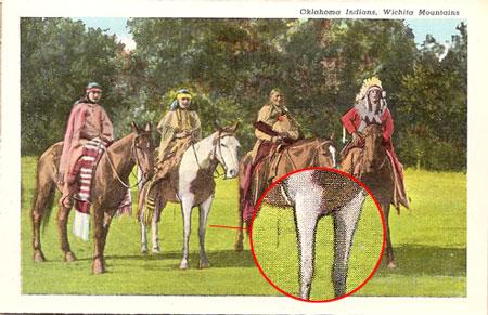 Ohama Indians, Wichita Mountains (1951 postcard)