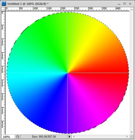 Gradient filled circle