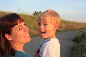 Dawn Pedersen and son Theo