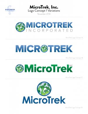 MicroTrek logo revisions round one