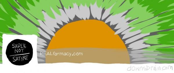 REALfarmacy.com Facebook cover image parody