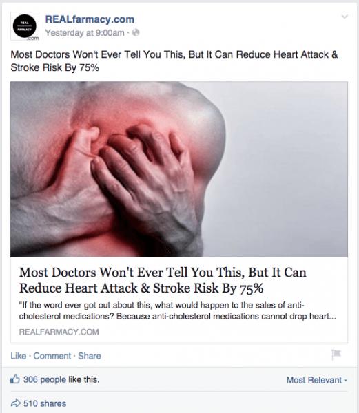 REALfarmacy.com Facebook post