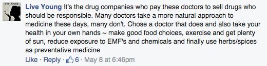 David (Avocado) Wolfe Facebook comment