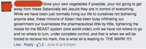 GMO Free USA Facebook comment