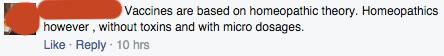 Organic Consumers Association Facebook comment