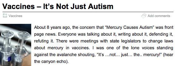 Sherri Tenpenny thinks vaccines cause autism